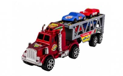 Set camion cu 4 masinute de jucarie