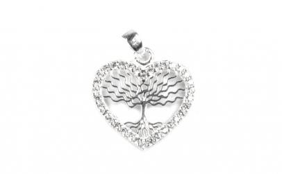 Pandantiv Copac in Inima cu Pietre ,
