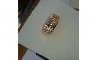 Inel Luxury Brilliant, dublu placat aur