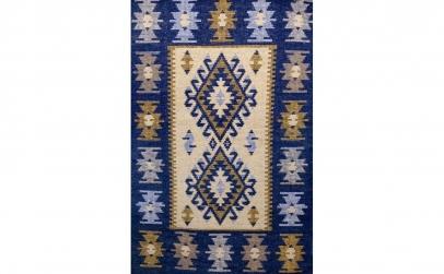 Covor tesut 80x150 albastru