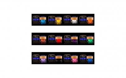 Set 12 geluri UV color Miley