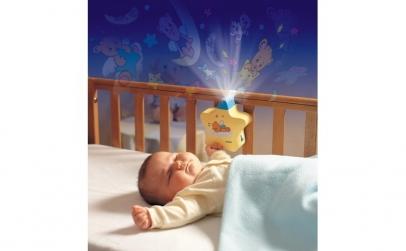Lampa de veghe bebe Steluta Aurie