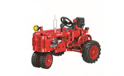 Joc de constructie tip lego Tractor