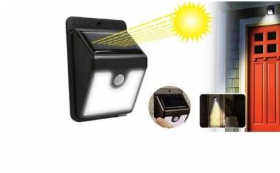 3 x Lampa LED cu incarcare solara