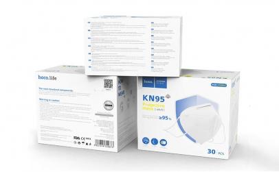 Set 10 masti reutilizabil HOCO KN95/FFP2