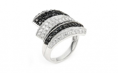 Inel elegant din argint 925 rodiat cu