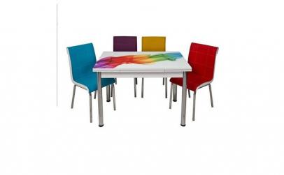 Set masa extensibila cu 4 scaune Sal