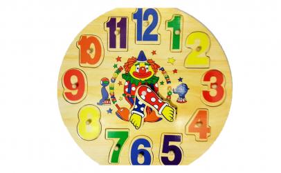 Ceas - Puzzle incastra din lemn
