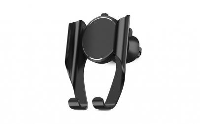 Suport telefon auto, din aluminiu, negru