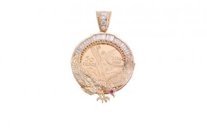 Lant Barbati cu Medalion 50 pesos