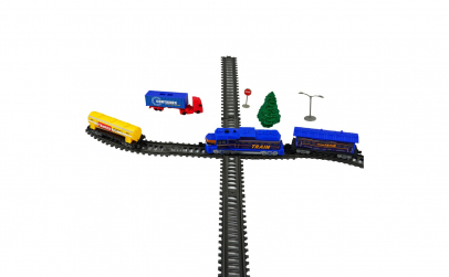 Trenulet electric cu macaz, lumini sunet
