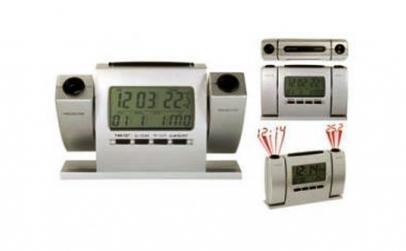 Ceas cu dubla proiectie: ora+temperatura