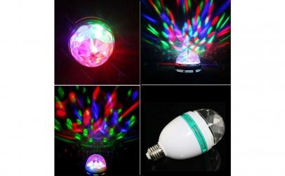 Bec disco LED - proiectie jocuri lumini