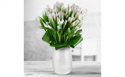 Buchet de 101 irisi albi