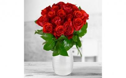 Buchet de 17 trandafiri rosii