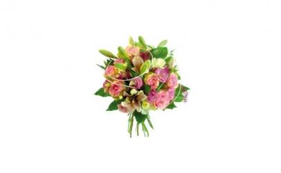 Buchet cu trandafiri lila