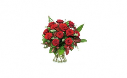 Buchet clasic de 17 trandafiri rosii