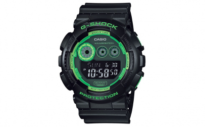 Ceas Casio G-shock green frame