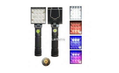 Lampa de lucru patrata - 16 LED