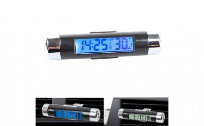 Termometru cu ceas auto