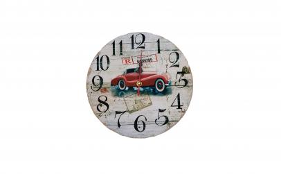 Ceas de perete din lemn, masina