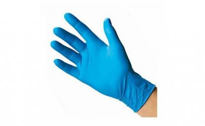 Manusi protectie nitril L, albastru
