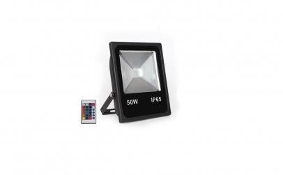 Proiector LED 50W, Slim, RGB