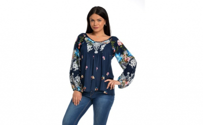 Bluza Dama Platca Bleumarin cu Maneca