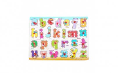 Puzzle lemn Alfabetul cu litere mici