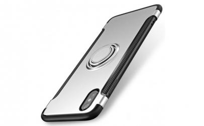 Husa argintie cu inel magnetic, Ipnone7