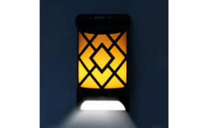 2x Lampa solara cu efect flacara 12led