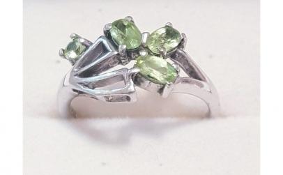 Inel din Argint cu Peridote