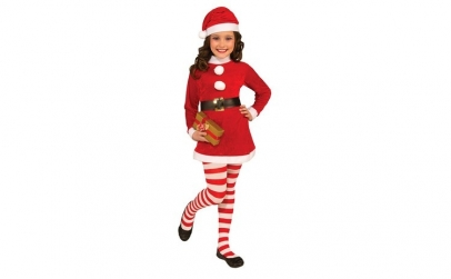Costum de Craciun pentru fetite 7-9 ani