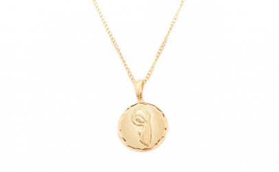 Lantisor si iconita placate cu aur Evya