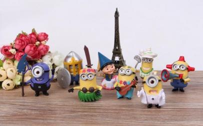 Set 8 Figurine Minioni Despicable Me