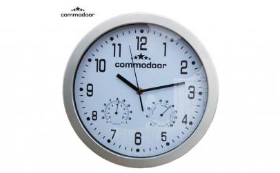 Ceas de perete cu termometru si
