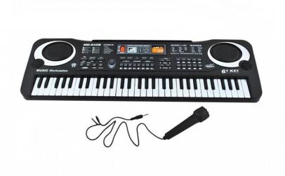 Orga electronica cu microfon, 61 clape,