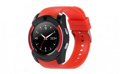 Ceas Smartwatch V8 Rosu HandsFree