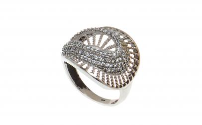 Inel din argint 925, model panza