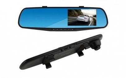 Oglinda auto cu camera + Casca audio