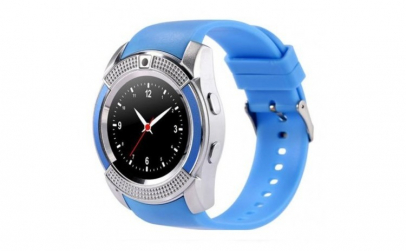 Ceas Smartwatch V8 Albastru HandsFree