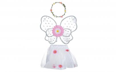 Costum alb pentru fete