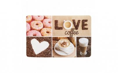 Placemat plastic 23x43 cm Coffee