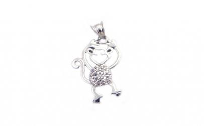 Pandantiv Argint 925 Maimuta cu Pietre