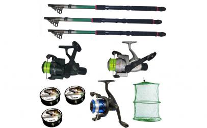 Set pescuit sportiv cu 3 lansete de 3.6m