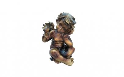 Statue Inger cu pasare 25x35 cm