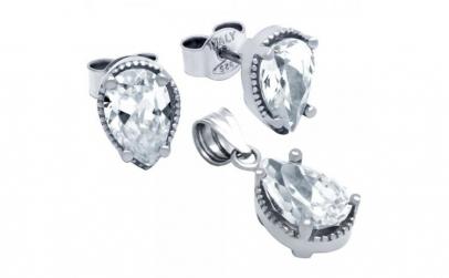 Set argint 925 elegant picaturi cu