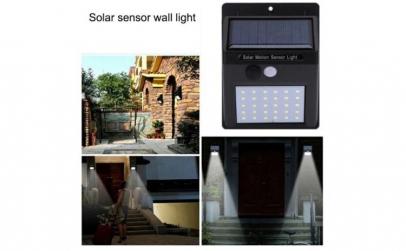 Lampa solara,senzor de miscare si lumina