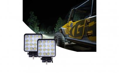 Set 2 Proiectoare LED Patrate 48W