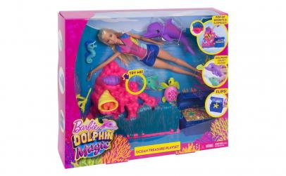 Papusa Barbie scafandru cu Delfinul Magi